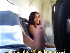 Girl at the bus makes me cum after i flash in public