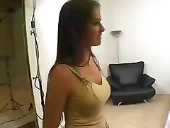 Hot brunette enjoys sucking and fucking on a hard black cock