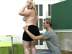 young boy fucks chubby girl on carpet