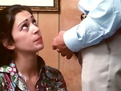 Bored secretary takes facial - vintage porn