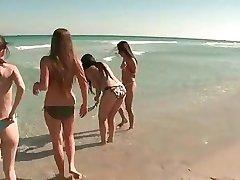 Spring Break Teens at the Beach