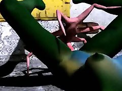 verde 3d gagica se fute hard cu un extraterestru spider