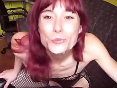 Skinny German Girl - ballplay, sucking & fucking