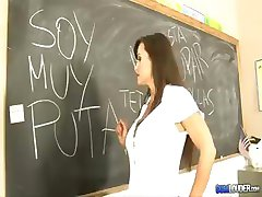 Brunette Lisa Ann fucks her Spanish teacher for a better grade
