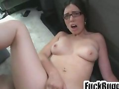 Glasses slut fucked