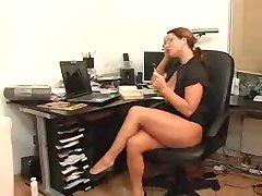 Redhead secretary hottie (german)