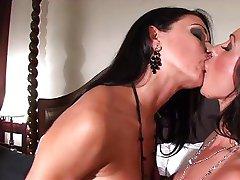 Hot brunette lesbian fun