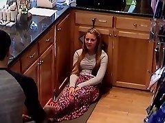 Hidden Web Cam School Teen Cashier Girls Feet Legs