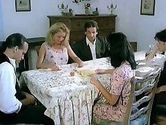 Italian aunt seduces cousin's friend