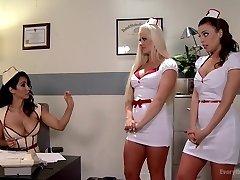 Anal Medical Punishment. Super Hot Nurses get a Deep Examination