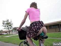 Fuck-a-thon-hungry teen Alex Blake is railing her fuck stick bicycle and having bang-out fun with one BBC