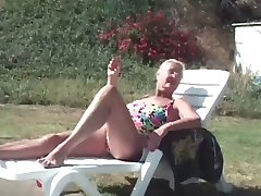 Granny Takes Two Poolside