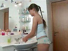 Girl And Bf In Bathroom