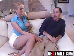 Horny housewife dick slurping