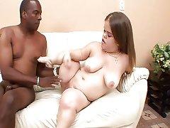 Midget Mya takes on  a black cock