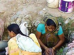 Indian Village Girl Spied In Outdoor Hidden