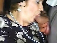 Five guys fuck granny and make bukkake