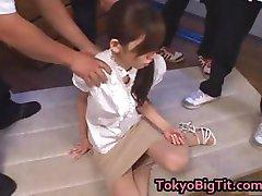 Asian MiLF Rina Tomoa Gets Sprayed part2