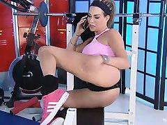 Linsey DM in the RLC Gym