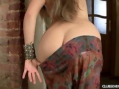 Youthful 19 yo girl Magda strokes her slim body and finger fucks her fuckbox