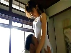Japanese girl is plowed before she teaches and when she teaches