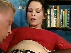 Pregnant European female never gives up her older sexual preferences