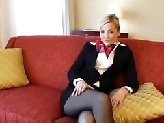 Blondi Sukkahousut lentoemäntä vittu ja kasvojen