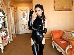 Beautiful Japanese gal in spandex