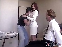 Raylene's handsome spouse gets trussed up and made to watch his wife get romped