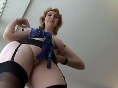 Mature British in pantyhose upskirt tease 1 (XED)