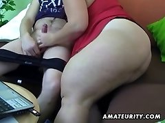 Chubby amateur wife homemade deep-throat and nail