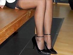 पैर में & ऊँची एड़ी के जूते के वेश्या पत्नी-एमडीएम