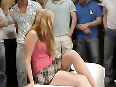 18yo Veronika with 50 guys in bukkake gangbang Part 1