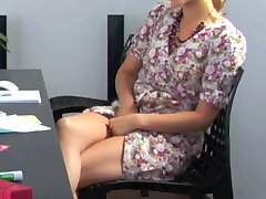 masturbation behind desk
