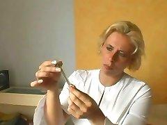 Blonde Older Nurse.