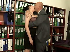 Busty office sex.