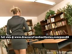 Horny redhead teacher in her office