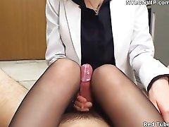 urad dama handjob najlon footjob pantyhose