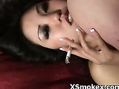 Voluptuosa Querida Perverter Fetiche De Fumar Hardcore