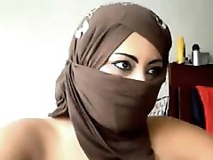 Arab Woman Flashing The Camera