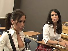 Lesbian teacher and her students