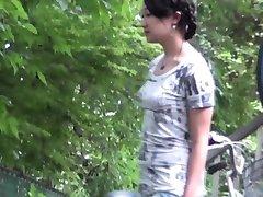 Asian ho pees in carpark