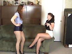 lesbian sijoče pantyhose ropstva