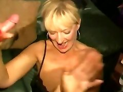 Sloppy English slut - Mass Ejaculation party 04