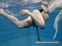 Andrea shows super-cute body underwater