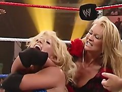 Sable Beating the Hell out of Torrie female wrestling domination