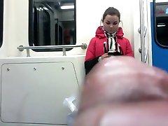 wanker flashing dick in metro