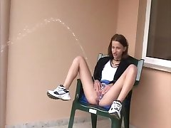sexy kinky skinny teen outdoor power piss 3