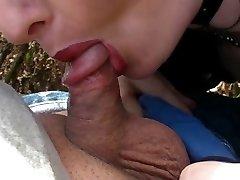 Fetish Gothic Lady bj's tiny penis