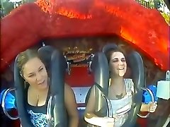 Oops Big Bosoms & Mounds in Roller coasters (Compilation)